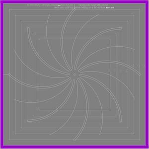"""85260: Westalee WA-CHSSPIRAL8-12.5"""" 12.5"""" CROSSHAIR SQ RULER - SPIRAL MARKING WITH 8"""