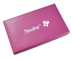 Sewline Travel Case SL50043, Fabric Covered Box, Magnetic Closure, 8-3/4inLx4-1/2inWx1-1/2inD, Made in Japan