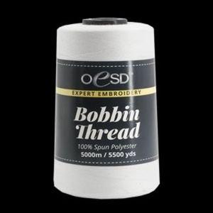 86038: Oesd OESDBOB- Embroidery Bobbin Thread 5500yd Poly Cone - White Or Black