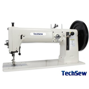 "TechSew 5200, 16.5"" Flatbed Walking Foot Needle Feed Leather Stitcher, Power Stand"