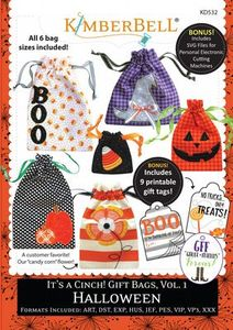 86513: KimberBell Designs KD532 It's a Cinch! Gift Bags Vol 1 CD for Halloween