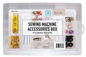 Eversewn BT-36L Sewing Accessory Box with Movable Partitions for Notions
