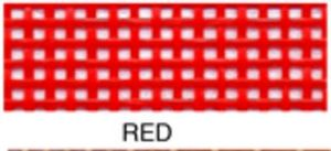 "55656: Lyle Enterprises VMC-128 Red Vinyl Mesh Roll 18"" X 36"""
