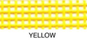 "55653: Lyle Enterprises VMC-74 Yellow Vinyl Mesh Roll 18"" X 36"""