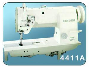 Singer 4411A566A Walking Foot Needle Feed Industrial Upholstery Sewing Machine HEAD, 10Arm, 20.4x7 Bed, 1/2 Foot Lift, M Bobbin Hook, Safety Clutch