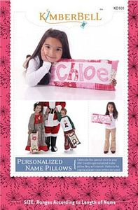 52677: KimberBell Designs KD101 Personalized Name Pillows Pattern