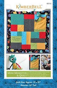 52683: KimberBell Designs KD112 Mini Monster and Quilt Pattern