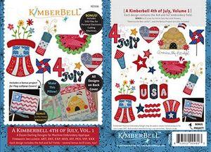 52717: KimberBell Designs KD506 Kimberbell 4th of July Vol. I Digital Embroidery Designs