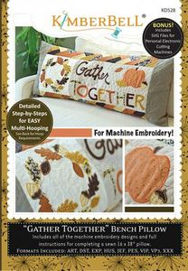 87494: Kimberbell KD528 Gather Together Bench Pillow