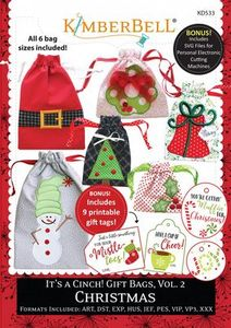 87496: KimberBell KD533 It's a Cinch! Gift Bags, Vol 2 Christmas