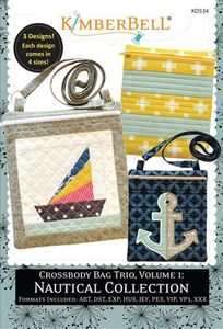 KimberBell KD534 Crossbody Bag Trio Vol 1, Nautical Collection