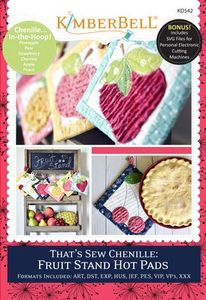 KimberBell KD542 That's Sew Chenille: Fruit Stand Hot Pads