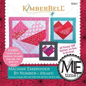 KimberBell KD621 Heart: Machine Embroidery by Number