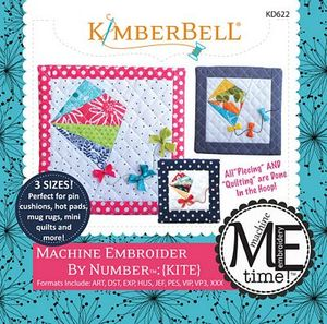 KimberBell KD622 Kite - Machine Embroider by Number