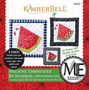 KimberBell KD625 Machine Embroider by Number: Watermelon ME CD