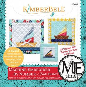 KimberBell KD627 Sailboat - Machine Embroider by Number