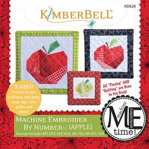 KimberBell KD628 Apple - Machine Embroider by Number