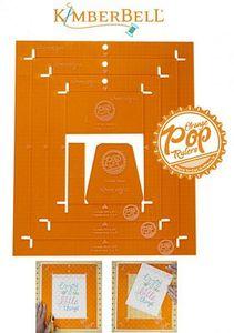 KimberBell KDTL102 Orange Pop Ruler Rectangle Set
