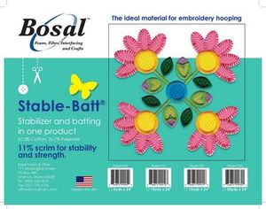 87602: Bosal BOS915 Stable-Batt Stabilizer Batting 15 yds x 24 in