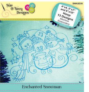 87695: Sue O'Very Designs SWASD36 Enchanted Snowman