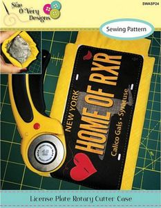 87729: Sue O'Very Designs SWASP24 License Plate Rotary Cutter Case