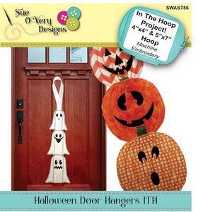 87923: Sue O'Very Designs SWAST56 Halloween Door Hangers ITH
