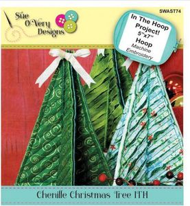 87933: Sue O'Very Designs SWAST74 Chenille Christmas Tree ITH