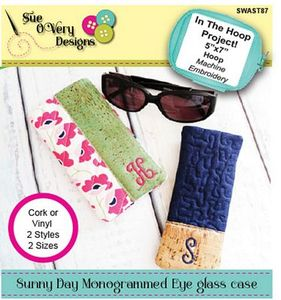 87944: Sue O'Very Designs SWAST87 Sunny Day Monogrammed Eyeglass Cases - ITH