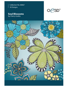 OESD 80067CD Soul Blossoms by Cherry Guidry Embroidery Design