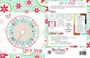 88245: Cherry Blossoms Quilting Studio CB120SVG Let it Snow Tree Skirt w/ SVG CD