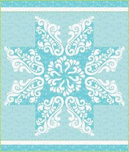 Cherry Blossoms Quilting Studio CB132SVG Snow Crystal w SVGs