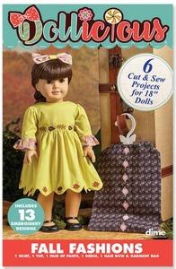 88325: Dime DOLL1001 Dollicious Pre-Printed Doll Fashion Patterns