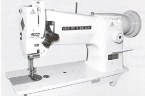 Seiko STH-8BLD-3 Single needle, Large horizontal axis hook, Compound needle feed and walking foot, Lockstitch machine with Table,Stand and Motor same