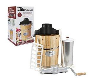 62527: Elite Gourmet EIM-502 4-Quart Old-Fashioned Ice Cream Maker