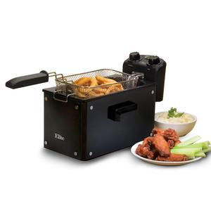 62507: Elite Platinum EDF-3060 6-Quart Deep Fryer, Stainless Steel
