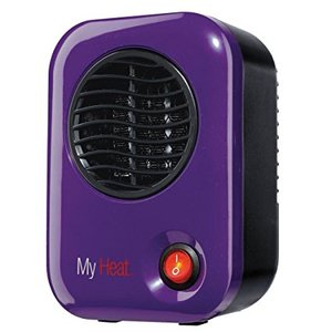 62452: Lasko 106 My Heat Personal Heater - Save-Smart 200 Watts of Warmth - PURPLE