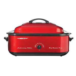 62602: Nesco 4818-22 18 Quart Red Roaster Oven w/Porcelain Cookwell 95TH ANNIVERSARY EDITION