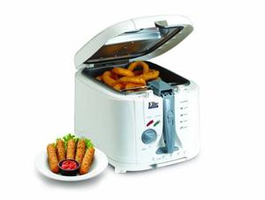 62512: Maxi-Matic EDF-888XT Elite 5-Quart Cool Touch Deep Fryer w/Timer, White
