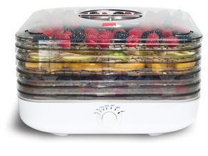 62713: Ronco FD6000WHGEN EZ Store Turbo 5 Tray Food Dehydrator
