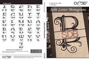 OESD 12665CD Split Letter Monograms