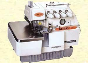 Gemsy 757F Super High 5 Thread Speed Industrial Serger / Overlock Machine with table ,stand and motor