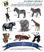 Amazing Designs / Great Notions 1038 Zoo Animals I Multi-Formatted CD