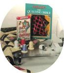 "Singer Essentials Starter Quilting Kit: 18x24"" Extension Table, 3  Feet,  Book, Video & Thread"