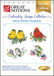 Great Notions, 111587 VP2 Valerie Pfieffer Songbirds Jumbo Designs Multi-Formatted CD for up to 5x7 Hoop Embroidery Machines