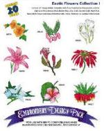 Great Notions1144 Exotic Flowers I Embroidery Multi-Formatted CD