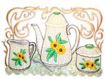 Dalco Teapot Collection Applique Designs