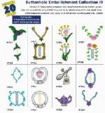 Amazing Designs / Great Notions 1213 Buttonhole Embellishment III Multi-Formatted CD
