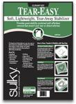 "Sulky 752 08 Easy Soft Light Tear Easy TearAway Stabilizer 8"" Inches x 11yds Yards, Black, for Machine Embroidery Hoops"
