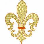 Joan Inman Fleur-de-lis 17 Embroidery Designs Multi-Formatted CD