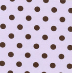 Fabric Finders 15 Yd Bolt 9.34 A Yd #415 Twill Purple with Brown Dots 100% Pima Cotton Fabric 60""